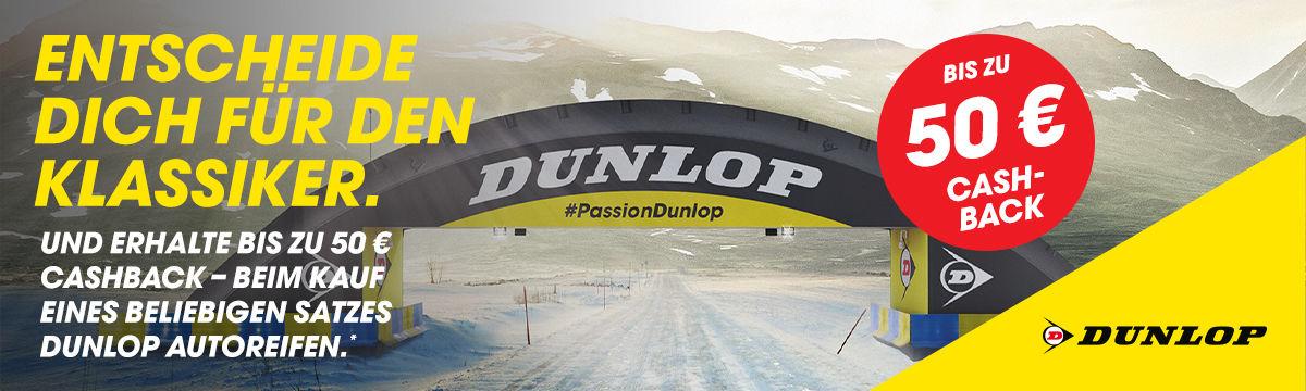 Dunlop Cashback Aktion 50€